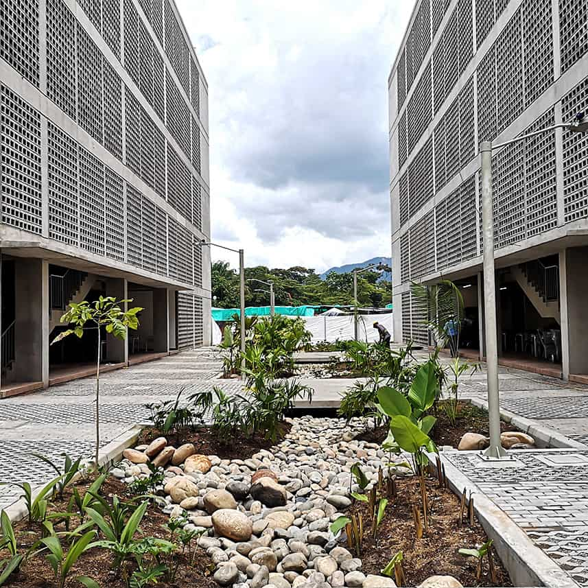 Tropical University Campus – Outdoor Areas